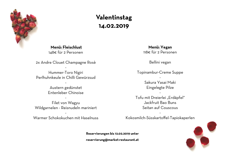 Valentinstag 2019 Market Restaurant